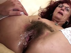 Deep Going Knuckle Deep For Sexy Mature Mom's Hairy Cunny