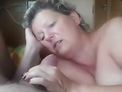Hungry MILF Sucks And Licks Horny Guy Cock And Balls