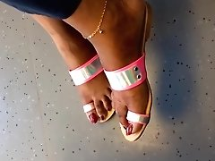 Black Mature Feet With Long Red Toenails And Feet Show