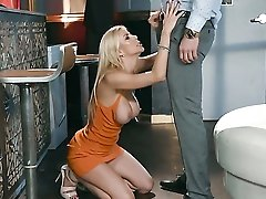 Blonde Tramp Mike Mancini With Huge Knockers Knows No Limits When It Comes To Fucking With Horny Guy