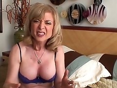 Blonde Nina Hartley Strips Down To Her Birthday Suit And Plays With Herself