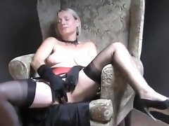 Crazy Homemade Record With Lingerie, Stockings Scenes