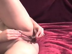 Big Clit Hotwife Fucking Her Pussy Up Close With A Glass Dildo