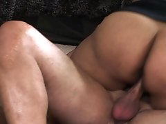 Brunette Latina Gets Face Fucked By Mans Hard Dick