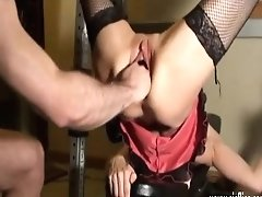 Violently Knuckle Fucked Unexperienced Wifey