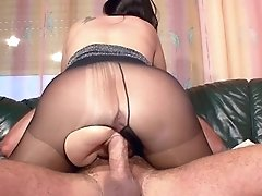 Hairy German Mummy In Nylon Get Hard Fuck