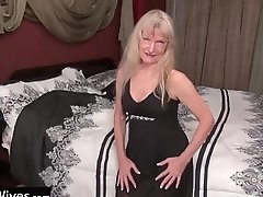 Usawives - Blonde Granny Cindy Enjoys Her Time Alone