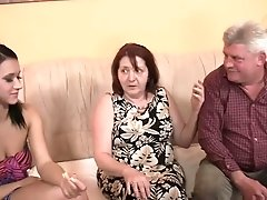 Mature   Couple And A Girl