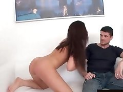 Brunette Housewife Alicia Jones Mounts Bbc Right Next To Her Cuckold Hubby