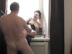 Mature Woman In The Window Threesome