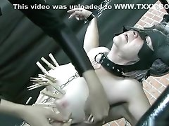 Mature Mistress Ties Up Her Slave And Uses Clothespins To Torture Her