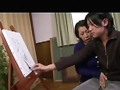 Insatiable Japanese Mom Seduces A Young Man To Drill Her Ac
