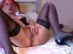 British MILF Wanks With Dildo