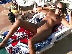 Amazing Homemade Clip With Outdoor, Blonde Scenes