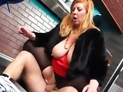 Bbw Blonde In Fake Fur