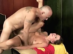 Mature Minx Samantha With Big Ass Can't Resist Guys Hard Tool And Takes It In Her Mouth