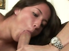 Teen Takes Guy's Rock Hard Sausage Deep In Her Mouth