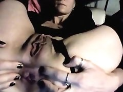Gaping Goddess Fingering Herself Then Takes It In The Ass