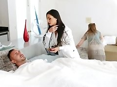 Hot Doctor Fixes The Patients Erect Cock With Doggystyle