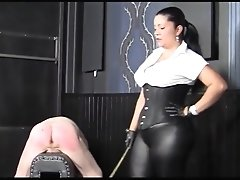 German Mistress  Hard Caning And Strapping Fm