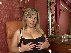 Hot Chubby Mom And Housewife Playing With Herself