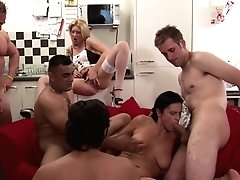 Real Mature Mom Gets Hard Brutal Group Hump