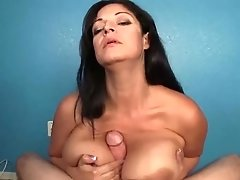 Big Cumblast For The Ample-titted Lady