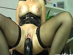 Huge-titted Mature Fucking Enormous Faux-cocks