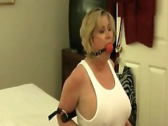 Mature Tied And Ball-gagged