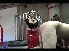 Mistress Lacy Wikedly Caning Slave