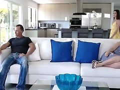Familysextapes - Stepdad Gives Mom Sleeping Pills And Fucks Daughter On The Couch Beside Her