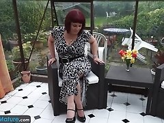 Europemature - Cute Mature Christina Shaking Her Big Boobs