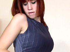 Nice Teen Redhead Lilyan Red Doing A Strip On The Bed