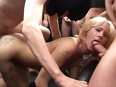 German Mummy In Mass Ejaculation Groupsex Orgy