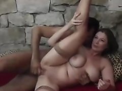 Big-boobed Mummy Spreads Her Gams For Rough Fucky-fucky