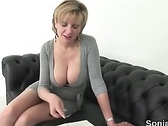 Unfaithful British MILF Lady Sonia Displays Her Enormous Balloons