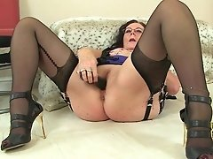 Brit Grannies Zadi And Pearl In Stockings With Suspenders