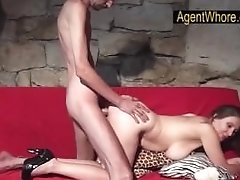 Bj, Hanjob And Labia Fuck From Huge-titted Wifey