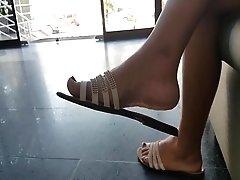Compilation Candid Feet MILF College Girl Dirt Soles