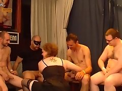 Kinky Old German Housewife In A Crazy Gang-fuck