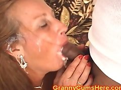 Granny Is A Three Fuck-hole Super-bitch For Jizz