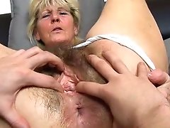 Close-ups Of Hairy Old Coochie Of Czech Granny Hana