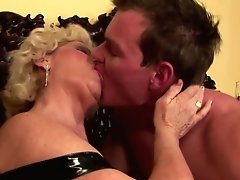 Grandma Creampied Into Hairy Cunt By Youthful Dude