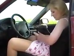 Mature Pantyhose Car Masturbation
