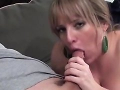 Maggie Green Takes Laundry Break For Some Jizz-shotgun!