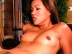 Exotic Asian G/g Slurps Muff Then Gets Fucked In Her Snatch With Strapon