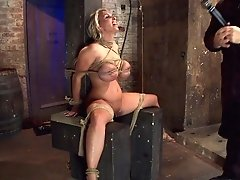 Holly Halston All American Milfher Massive Breasts Oiled Watered & Bound, She Can't Stop Cumming - Hogtied