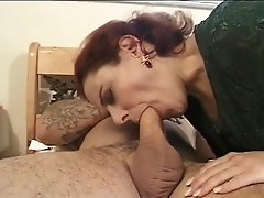 Man Fucks Hairy Old Bitch With Tattoos