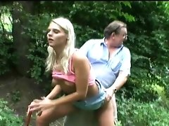 Perv Dad Bangs Hot Blonde Teenage At The Park