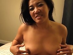 Asian Mummy - Playing With Her Tits